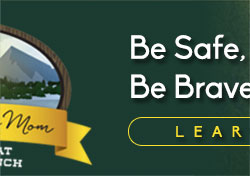 Be Safe Love Mom Banner